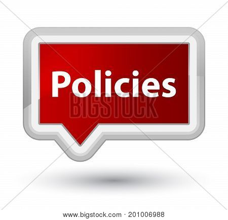 Policies Prime Red Banner Button