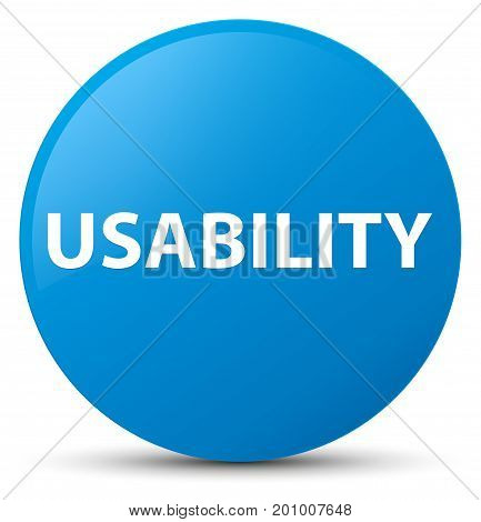 Usability Cyan Blue Round Button
