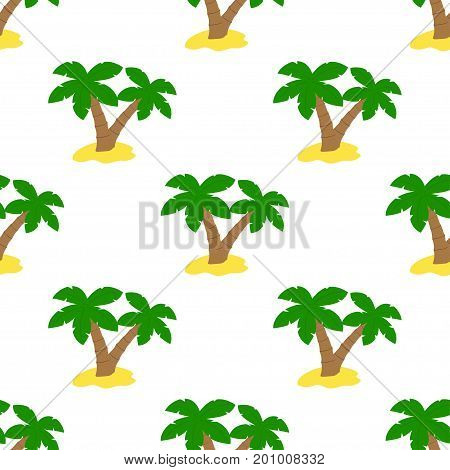 summer background seamless pattern palm trees on a white background abstract seamless pattern with tropical palm trees