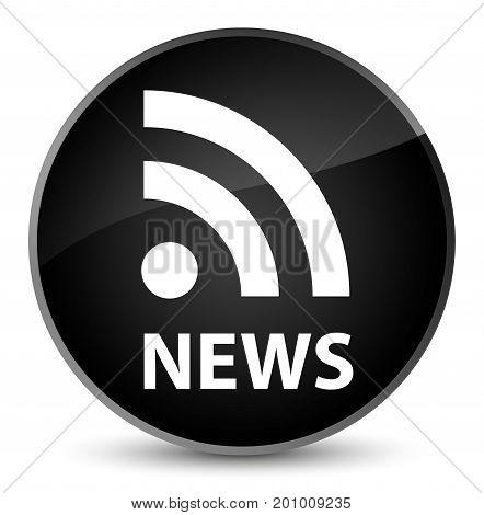 News (rss Icon) Elegant Black Round Button