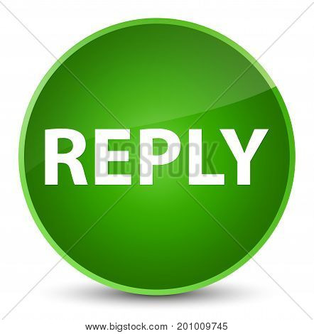 Reply Elegant Green Round Button