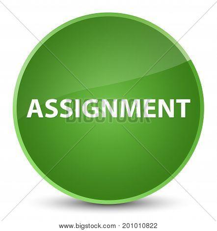 Assignment Elegant Soft Green Round Button