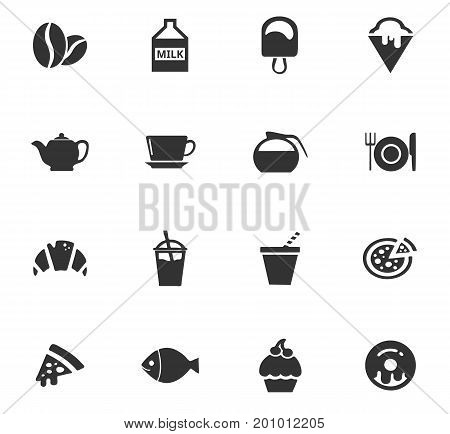 Food vector icons for user interface design