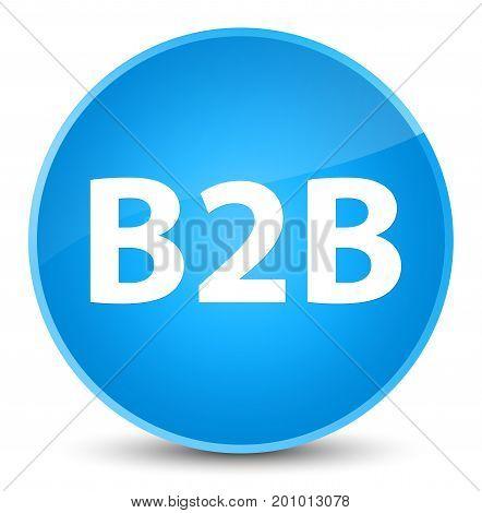 B2B Elegant Cyan Blue Round Button