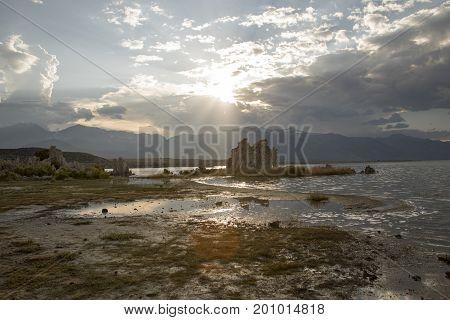 Tufa Of Mono Lake At Sunset