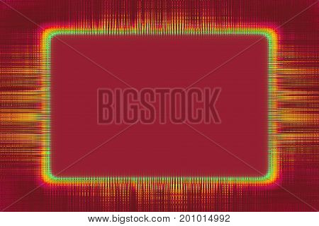 Yellow lines border frame on a red background