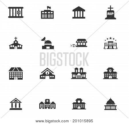 Building vector icons set for website design