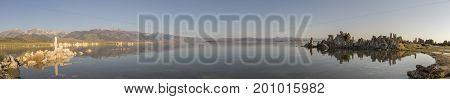 Panorama Of Tufas In Mono Lake