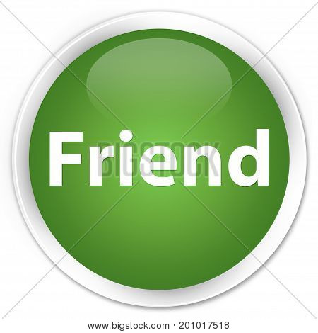 Friend Premium Soft Green Round Button