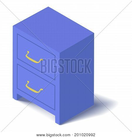 Locker icon. Isometric illustration of locker vector icon for web