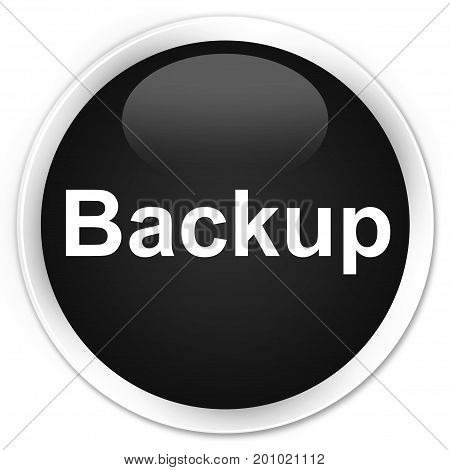 Backup Premium Black Round Button