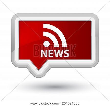 News (rss Icon) Prime Red Banner Button