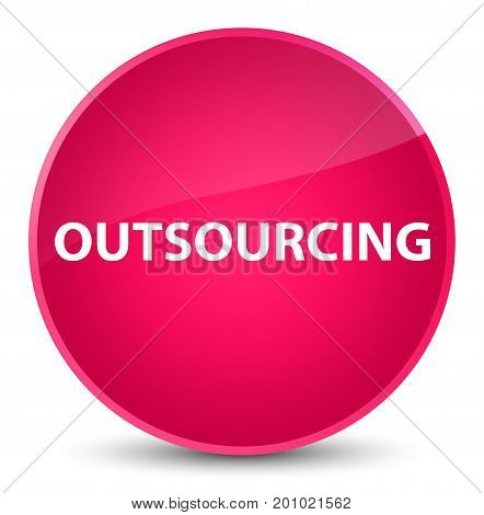 Outsourcing Elegant Pink Round Button