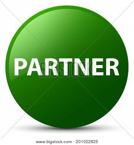 Partner Green Round Button