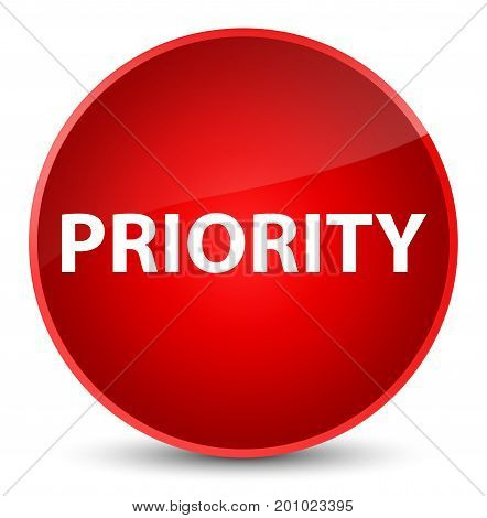 Priority Elegant Red Round Button