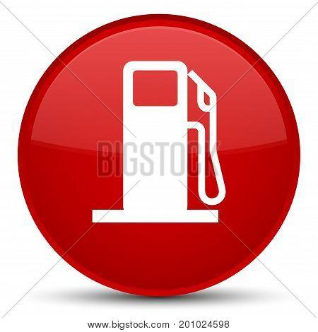 Fuel Dispenser Icon Special Red Round Button