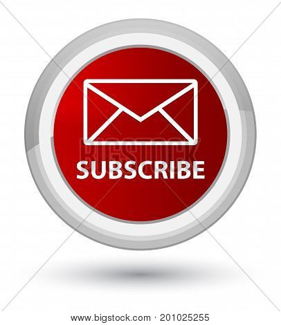 Subscribe (email Icon) Prime Red Round Button