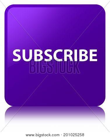 Subscribe Purple Square Button