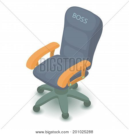 Office chair icon. Isometric illustration of office chair vector icon for web