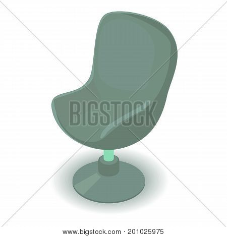 Green chair icon. Isometric illustration of green chair vector icon for web