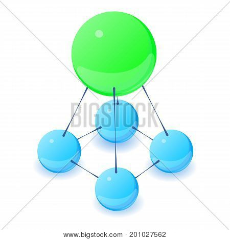 Stable molecule icon. Isometric illustration of stable molecule vector icon for web