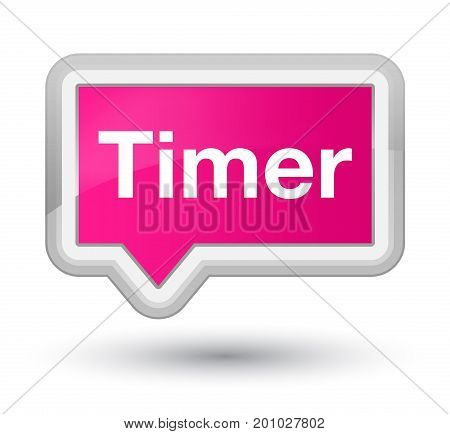 Timer Prime Pink Banner Button
