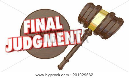 Final Judgment Decision Gavel Choice 3d Illustration