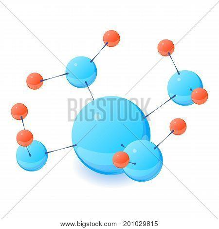 Complex molecule icon. Isometric illustration of complex molecule vector icon for web