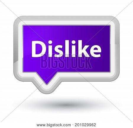 Dislike Prime Purple Banner Button