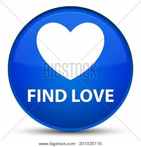 Find Love Special Blue Round Button