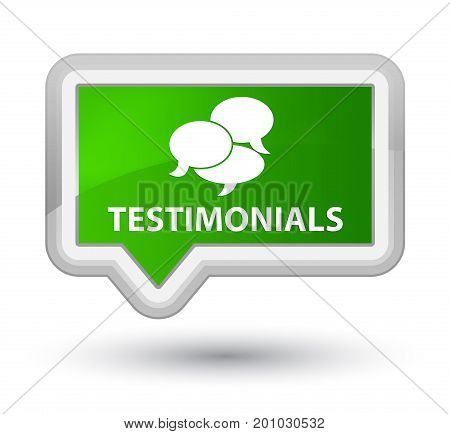 Testimonials (comments Icon) Prime Green Banner Button
