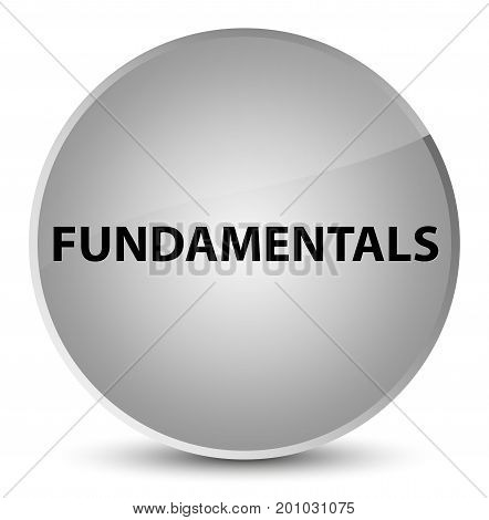 Fundamentals Elegant White Round Button