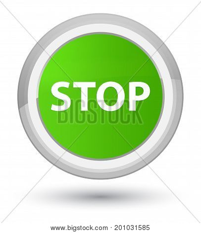 Stop Prime Soft Green Round Button