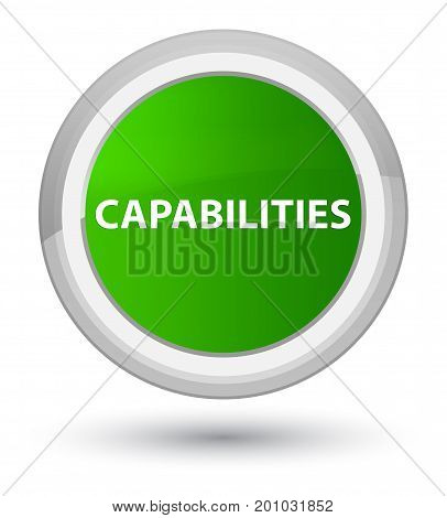 Capabilities Prime Green Round Button