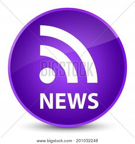 News (rss Icon) Elegant Purple Round Button