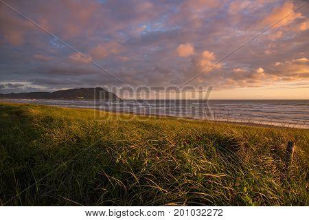 Cotton candy sunset over the Oregon Coast