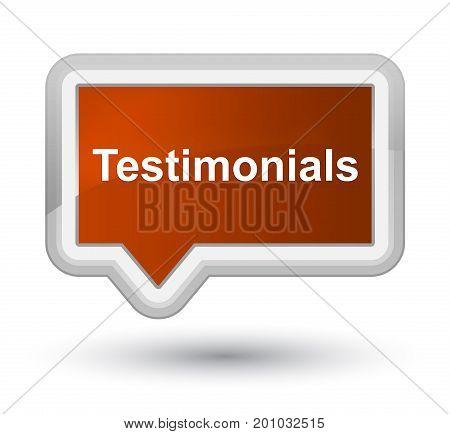 Testimonials Prime Brown Banner Button