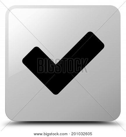 Validate Icon White Square Button