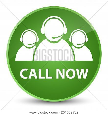 Call Now (customer Care Team Icon) Elegant Soft Green Round Button