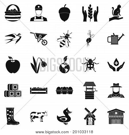 Place icons set. Simple set of 25 place vector icons for web isolated on white background
