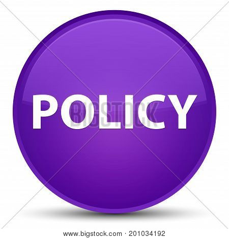 Policy Special Purple Round Button