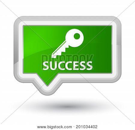 Success (key Icon) Prime Green Banner Button