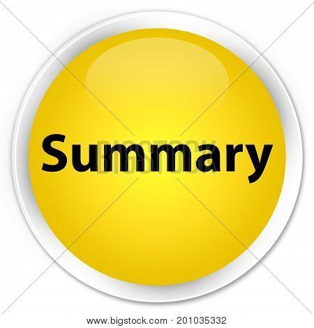 Summary Premium Yellow Round Button