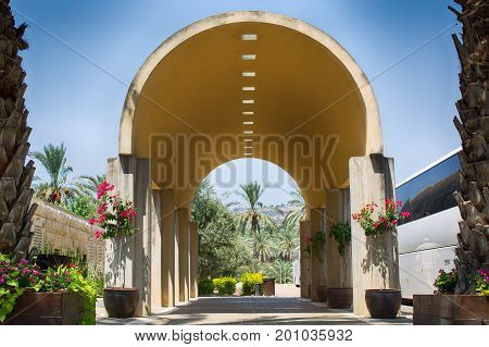 Yardenit, Israel The entrance to the baptising place on the Jordan river. Israel