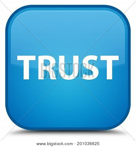 Trust Special Cyan Blue Square Button