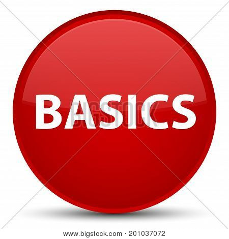Basics Special Red Round Button