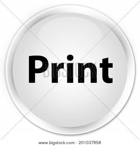 Print Premium White Round Button