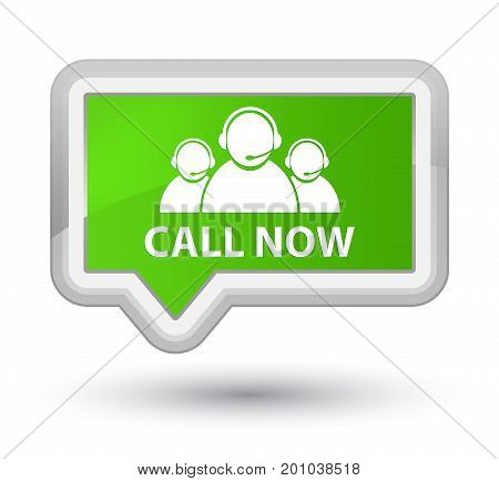 Call Now (customer Care Team Icon) Prime Soft Green Banner Button