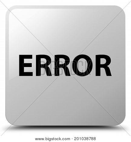 Error White Square Button