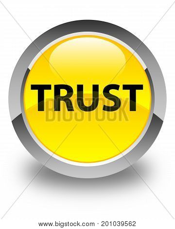 Trust Glossy Yellow Round Button